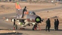 میگ ۲۱ سوری در پایگاه هوایی ملک حسین در اردن
