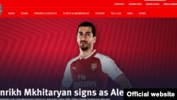 UK/Armenia/Football - Armenian midfielder Henrikh Mkhitaryan signs a contract with Arsenal, London,22Jan,2018