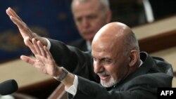 Ашраф Ғани АҚШ Конгрессида.