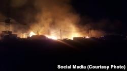 Так горели поселки