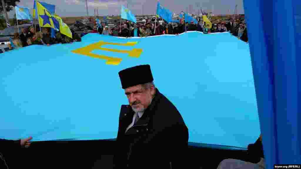 Річниця «громадянської блокади» Криму на КПВВ «Чонгар», 24 вересня 2016 року