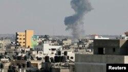 Израильдің әуе шабуылынан кейінгі Газа секторы. 19 тамыз 2014 жыл.