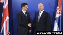 Vuk Jeremić i Vilijam Hejg prilikom susreta u Beogradu, 31. avgust 2010.