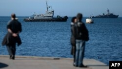 Российские корабли в бухте Севастополя
