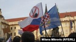 Демонстрация в Праге, 6 февраля 2016