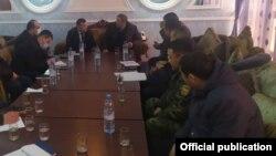Встреча представителей Кыргызстана и Таджикистана. 22 февраля 2021 года.