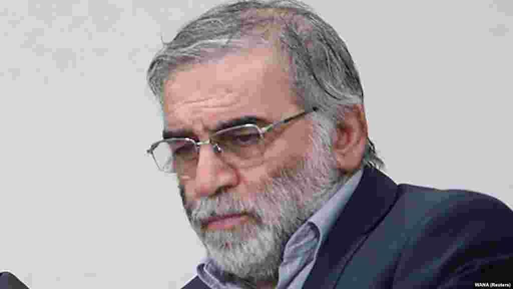 "Мохсен Фахризаде (1961-2020) Фахризадех беше член на Исламска револуционерна гарда. Физичарот беше опишан како ""мозок"" зад иранската нуклеарна програма."