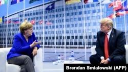 Анґела Меркель та Дональд Трамп