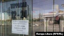 Terasă închisă la Tiraspol, în regiunea transnistreană