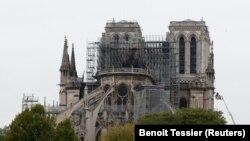 کلیساینوتردام پاریس بعد از آتشسوزی. April 16, 2019