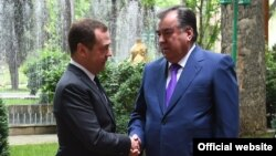 Эмомали Рахмон и Дмитрий Медведев