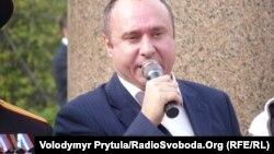 Геннадій Басов на «Російському марші» в Криму проти євроінтеграції України, Сімферополь, 4 листопада 2013 року