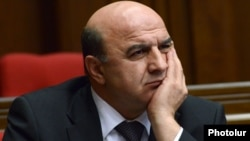 Armenia - Energy Minister Armen Movsisian attends a parliament session, Yerevan, 5Feb2014.