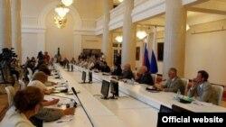 Одно из заседаний Совета при президенте РФ по развитию гражданского общества и правам человека
