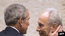 جرج بوش در آخرین سفر خود به خاورمیانه با مقام های اسرائیلی دیدرا کرد. (عکس ازAFP )