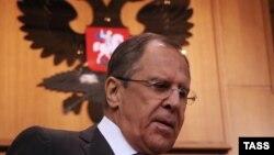 Сергей Лавров на пресс-конференции в Москве 21 января 2015 г.
