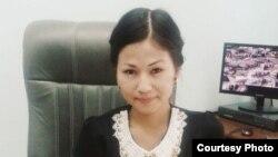Алматылық студент Ұлжалғас Ниязбекова. Сурет жеке мұрағаттан алынған.