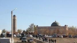 Мечеть имени Ахмета Ишана в Жезказгане. Октябрь 2015 года.