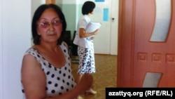 Зинаида Мухортова на судебном заседании по делу о помещении ее на принудительное лечение в психдиспансер. Балхаш, 16 августа 2013 года.