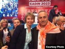 Ирина Балджи и министр иностранных дел Мевлют Чавушоглу