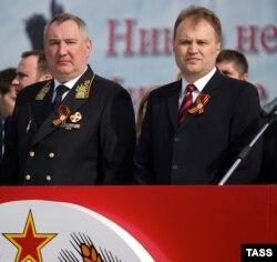 Dmitri Rogozin și Evgeni Șevciuk, Tiraspol, 9 mai 2014