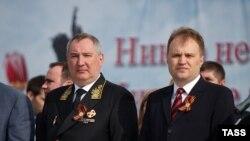 Вице-премьер России Дмитрий Рогозин и глава самопровозглашенной республики Приднестровья Евгений Шевчук