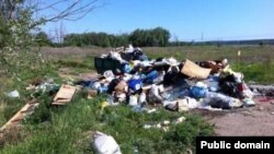 "A makeshift dumping ground near the village of Maltsevo in Tatarstan in a photo that accompanied a complaint on the ""People's Control"" website."