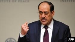 Nuri al-Maliki duke folur në Institutin për Paqe të Shteteve të Bashkuara