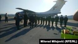 Ruski vojni avion dovezao je medicinsku pomoć i stručno osoblje u Banjaluku, 9. april 2020.
