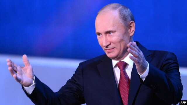"Russia's President Vladimir Putin pledged that the government will ""continue to do everything necessary to secure the necessary conditions for their work, for their genuine independence in the transmission of information."""