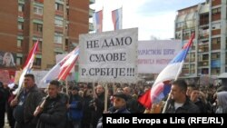 Protest Srba u severnoj Mitrovici
