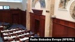 Prazna sala Skupštine Severne Makedonije