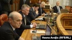 Državni vrh Srbije tokom razgovora o Rezoluciji, 9. januar 2013.