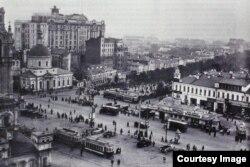 """Moscova în anii 1920. Vedere din redacția ziarului """"Izvestia"""" (Sursă: Biblioteca Centrală Universitară, Iași)"""