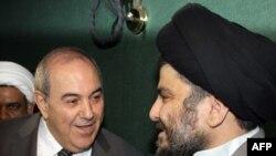 الصدر وعلاوي في دمشق