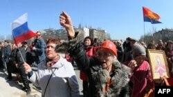 Украина --Донецкерчу Iедалан ЦIенна хьалха гуламехь лаьтта Оьрсийчоьнехьа болу зударий, 8Оха2014