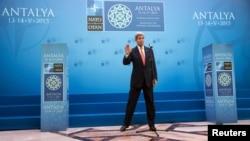John Kerry Antalya görüşündə