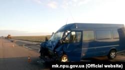 Ukraine -- Mykolaiv oblast, car accident with Belarus car involved
