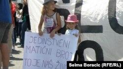 Sa protesta u Sarajevu, 1. jul 2013.