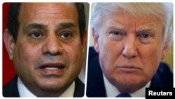 Abdel Fatah el-Sisi i Donal Tramp