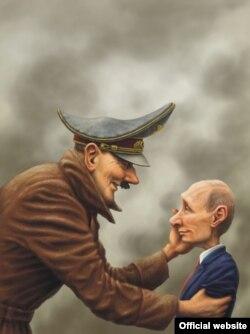 Карыкатура Андрэя Леўчанкі з Палтавы, якая атрымала першае месца на конкурсе