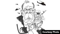 Фрагмент карикатури Михайла Шлафера