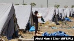 مخيم مؤقت في بحركة (قرب أربيل) لإيواء نازحي تلعفر