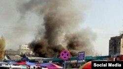 Столб дыма на месте пожара, фото с форума Diesel