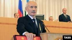 Bashkortostan Republic President Rustem Khamitov at his inauguration in Ufa in July 2010.