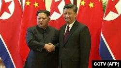رهبران چین و کوریای شمالی