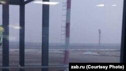 Задымление в районе аэропорта в Чите