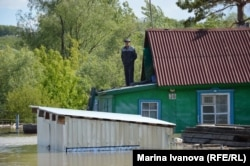 Хозяин на крыше своего дома