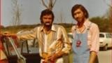 Radu Teodor și Cornel Chiriac, mânăstirea Andechs, Bavaria, 1973 (courtesy photo: CffdT & Power Play Rock)