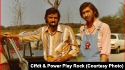 Radu Teodor și Cornel Chiriac, mânăstirea Andechs, Bavaria, 1973 (courtesy photo: CffdT& Power Play Rock)